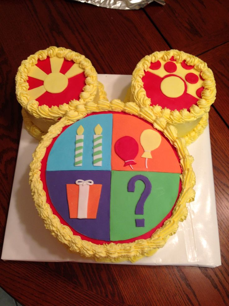 how to make a mickey mouse clubhouse cake
