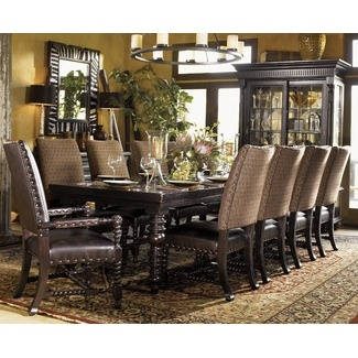 Lowest Price Online On All Tommy Bahama Home Kingstown Pembroke Rectangular Formal  Dining Table In Tamarind Finish