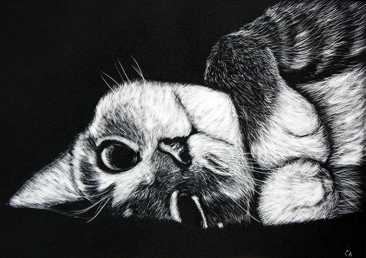 Cat Scratch Art Celeste Myart