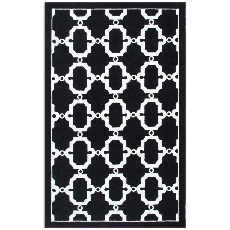 black and white rug patterns. Resort Hyperion Black \u0026 White Outdoor Rug $222 And Patterns L