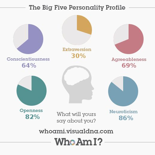 results of my big five personality The authors examined the validity of observer ratings (supervisor, coworker, and  customer) and self- ratings of personality measures results based on a sample.