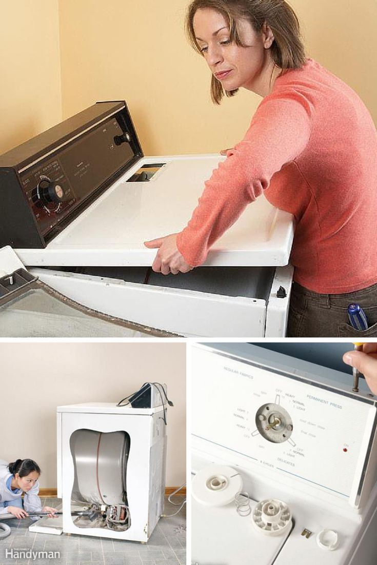 Washer and Dryer Repair: Make your washer and dryer repairs yourself with these how-tos and tips. Read more: http://www.familyhandyman.com/appliance-repair/washer-and-dryer-repair