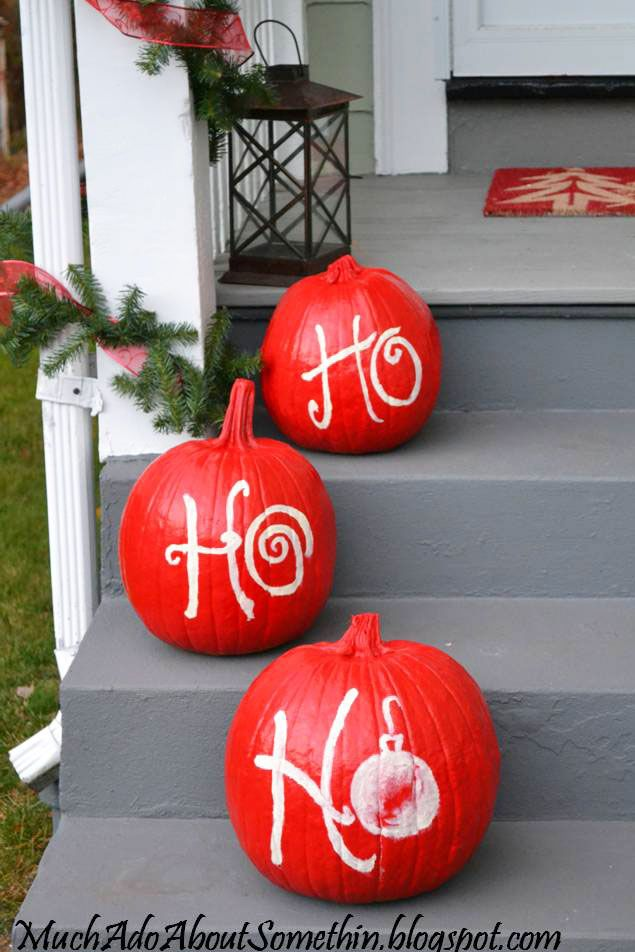 What better way to entice Santa Claus to come early than lining your steps with his go-to saying?