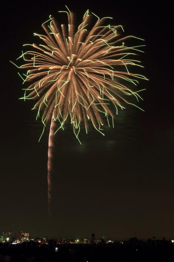Beautiful firework in Futako Tamagawa
