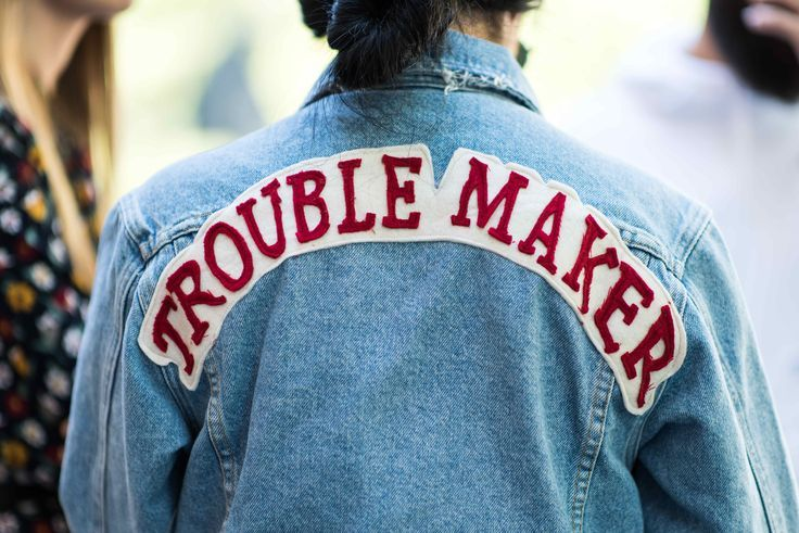 Denim just got a 70s style update with slogan patches. #Topshop