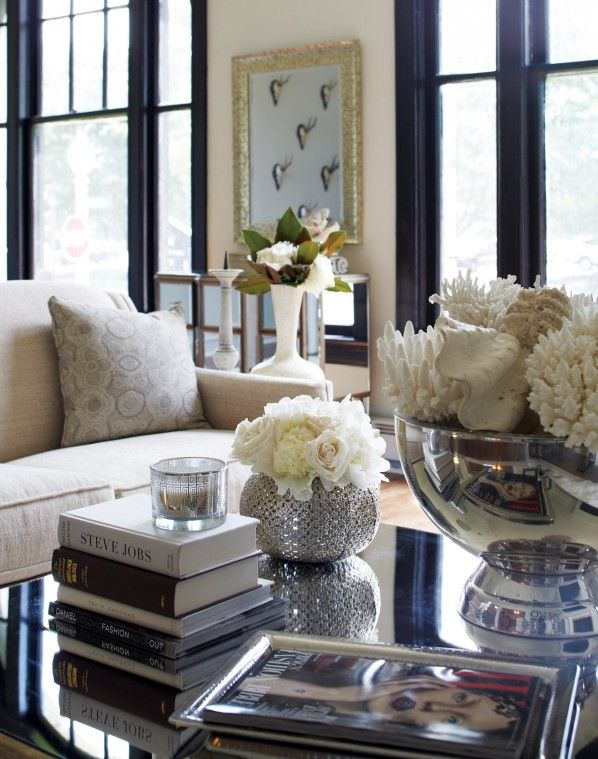 Beautiful Living room with lovely styled accessories on the coffee table.  York House Design Daredevil - 265 Best Images About It's All In The Details On Pinterest