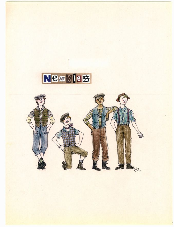 Newsies. Costume design by Jess Goldstein.