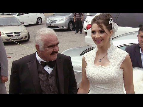 Vicente Fernández entregó a su única hija en el altar - YouTube