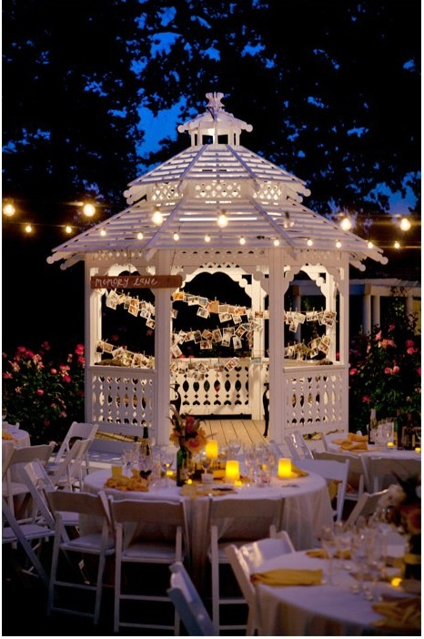 Summer Romance In A Gazebo #gazebolighting. Gazebo LightingOutdoor ...