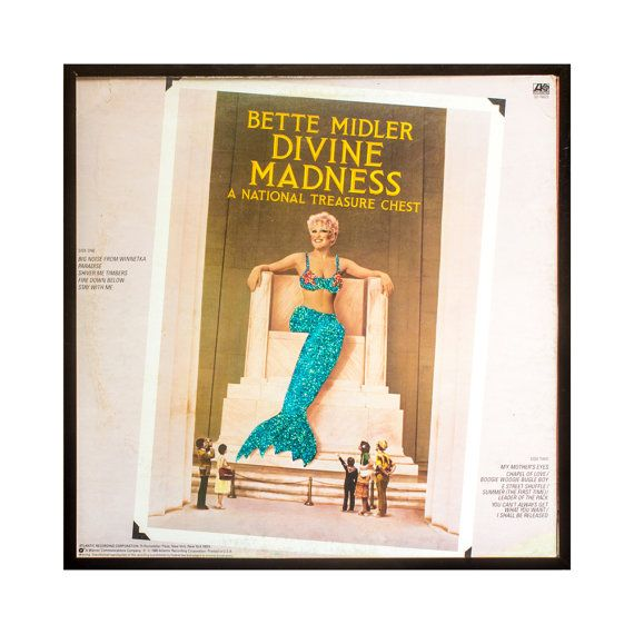 Glittered Vintage Bette Midler Divine Madness Cover by michel328, $90.00