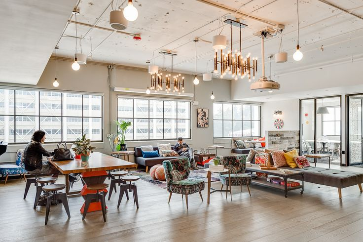 Photos of WeWork HQ by Lauren Kallen and Chris Stark via Officelovin' Tech companies are often mocked for building offices that double as glorified playgrounds for their adult employees, with...