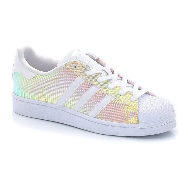 Baskets basses iris�es Superstar W ADIDAS