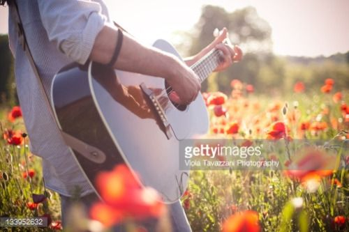 03-20 Man playing guitar in poppy field. #monleale…... #monleale: 03-20 Man playing guitar in poppy field. #monleale…… #monleale