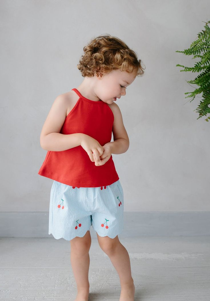Lily Top – Red – little bubs