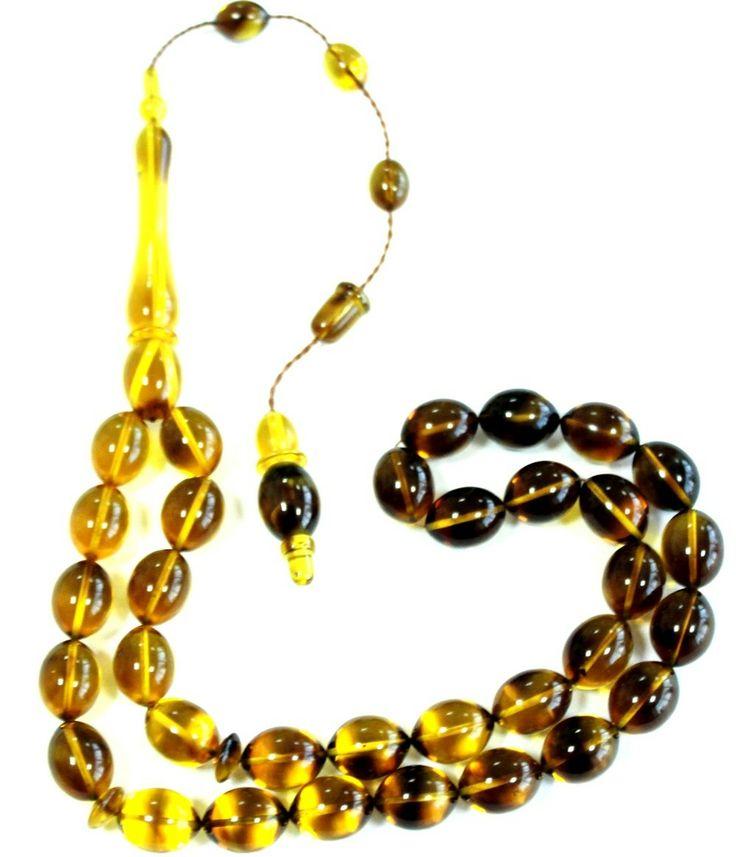 kehribar tesbih, sarı siyah hareli kehribar tesbih, hareli kehribar, el yapımı kehribar http://www.yoremtesbih.com/sari-siyah-hareli-suzme-dizilmis-kehribar-tesbih-9-5x12-5-mm/