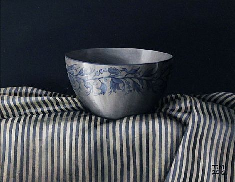 Trudie Mooney: Bowl with Striped Fabric