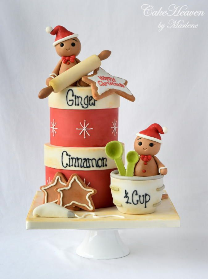 Christmas+Baking+Cake+-+Cake+by+CakeHeaven+by+Marlene