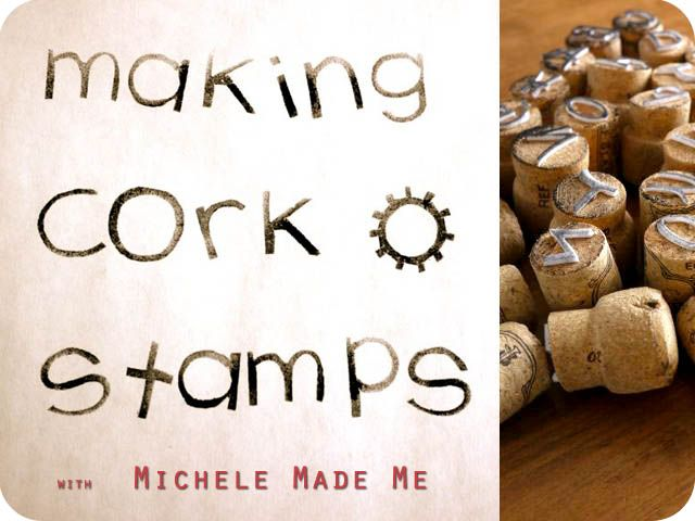 recycled corks become letter and number stamps over at Michele Made Me