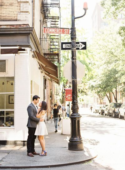 A sweet e-sesh among the hustle and bustle: http://www.stylemepretty.com/little-black-book-blog/2015/02/19/west-village-engagement-session-2/ | Photography: Judy Pak - http://judypak.com/