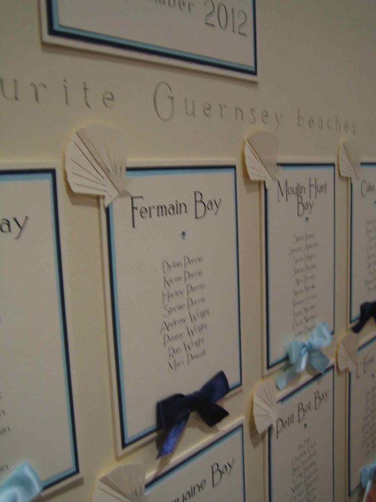 Just Beachy bespoke table plan  www.indigoflash.co.uk