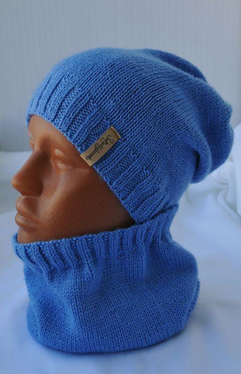 """Комплект """"SKY"""" шапка-колпак(чулок, носок, бини) и снуд от пользователя «qwerty11121999» на Babyblog.ru"""