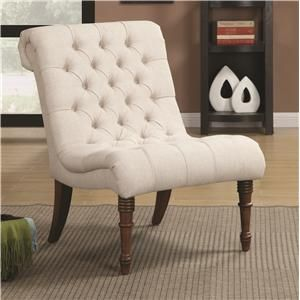Coaster Accent Seating Curved Accent Chair - Reeds Furniture - Upholstered Chair Los Angeles, Thousand Oaks, Simi Valley, Agoura Hills, Wood...