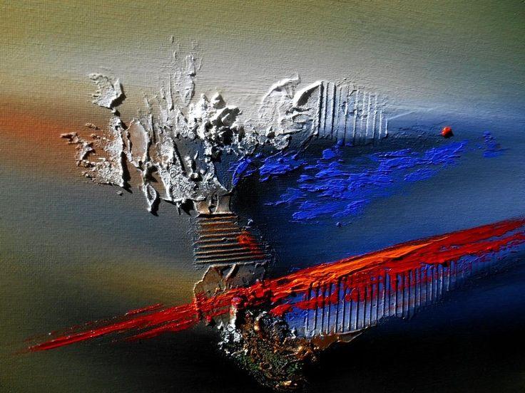 Peinture tableau abstrait contemporain encadr toile l for Art moderne abstrait