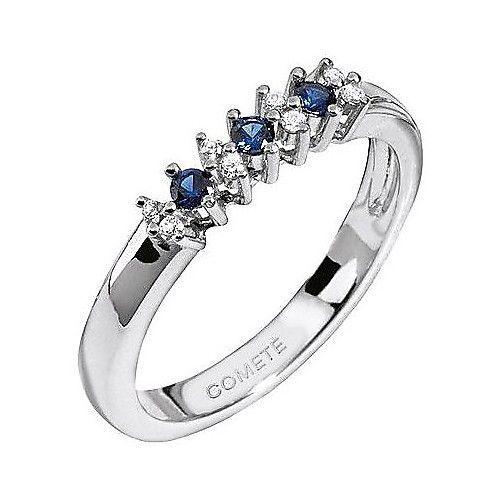Comete Gioielli Anello con zaffiri blu e diamanti ANB 1154 Misura 14