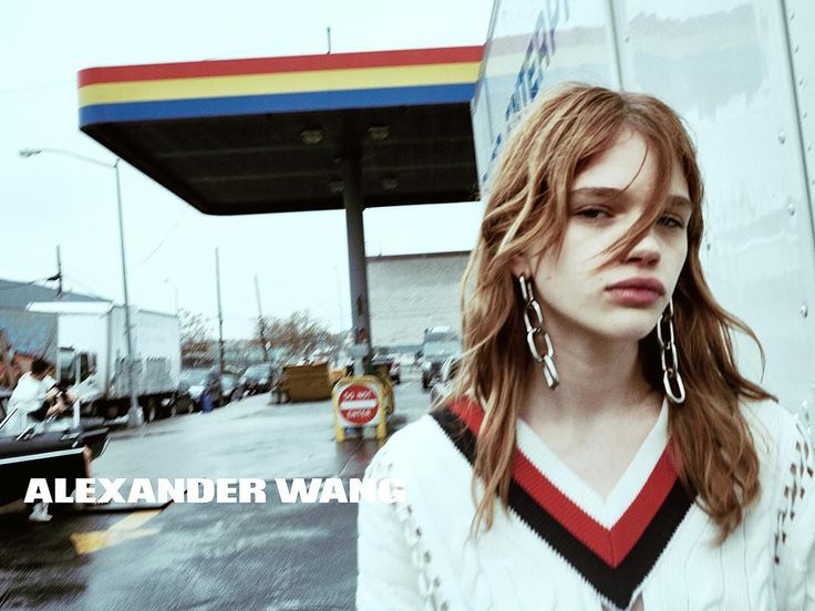 ALEXANDER WANG SS16 Photo by: Steven Klein Starring: @stellaluciadeopito  Where: Outside the Sonomax Gas Station, Greenpoint, Brooklyn
