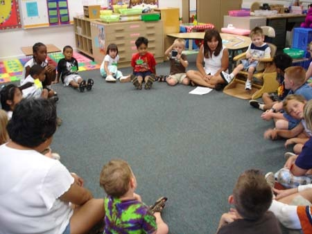 Community Circle at Mokulele Elementary School in Honolulu, HI