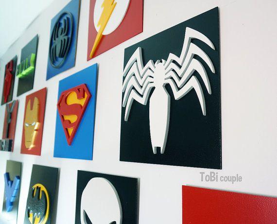 Superhero Venom Wall art Kids bedroom wall art by HeroesCreations