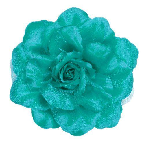 SILK ORGANZA ROSE TIE BACKS Voile Net Curtains Flower Holdbacks Curtain Tieback Teal Diameter: 15cm. Just Contempo http://www.amazon.ca/dp/B00ET3V9AE/ref=cm_sw_r_pi_dp_UPK3vb0BS35E2