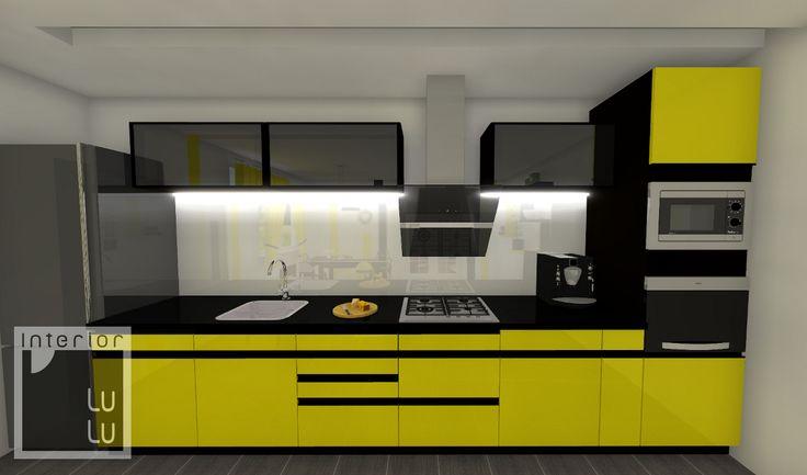 Zabudowa kuchenna żółta
