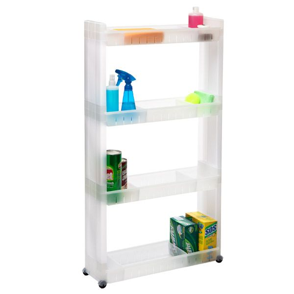 4 Tier Slim Cart Perfect For Space Between Fridge And