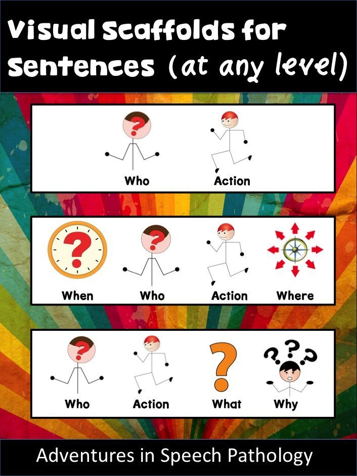 Visuals REALLY help students know what they are supposed to say or write. With different complexities, you can support many different levels in your classroom or caseload.