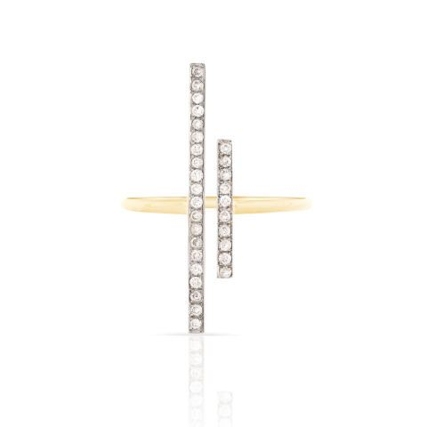 This Pave Diamond Bar Ring from Smith + Mara is the perfect Valentine's Day gift for a girlfriend or wife.
