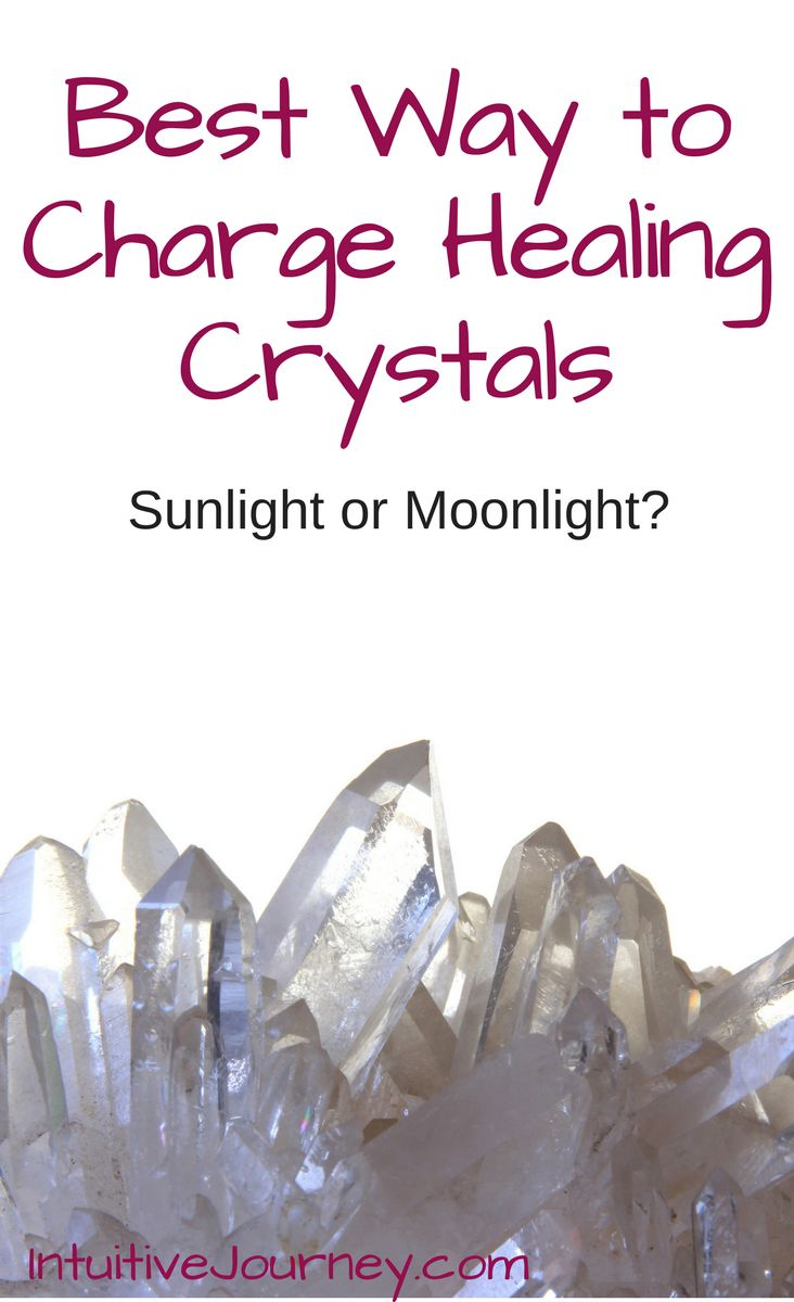 Best way to charge crystals sunlight or moonlight