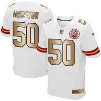 Nike Chiefs #50 Justin Houston White Men's Stitched NFL Elite Go