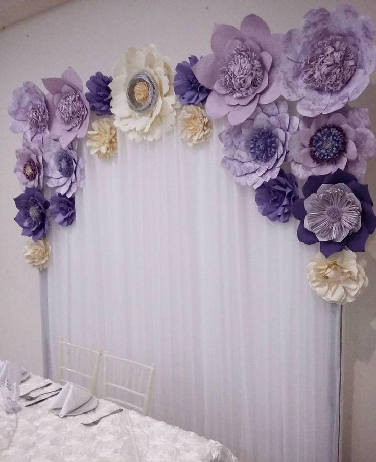 Las 25 mejores ideas sobre pared con flores en pinterest y - Decorar pared con papel ...