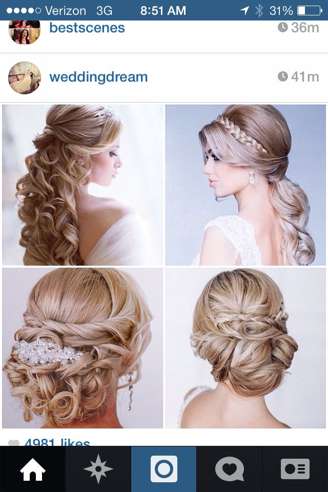 Wedding hair ideas from Instagram | My Fairytale ♥ | Pinterest