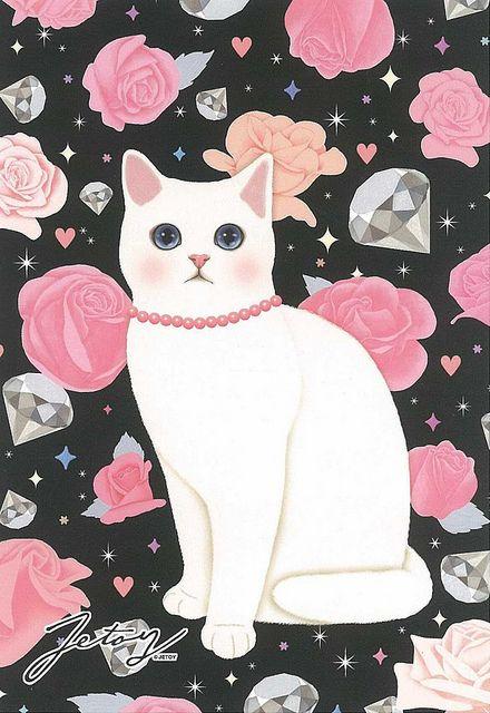 Jetoy Choo choo cat postcard - Night 2 by PCmarja2006