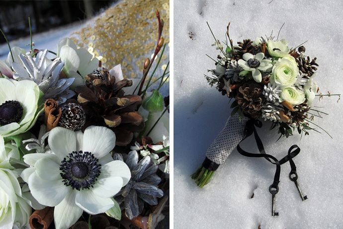 FLÓRA Floral Botanical Atelier / winter Wedding/ anemone / rustic