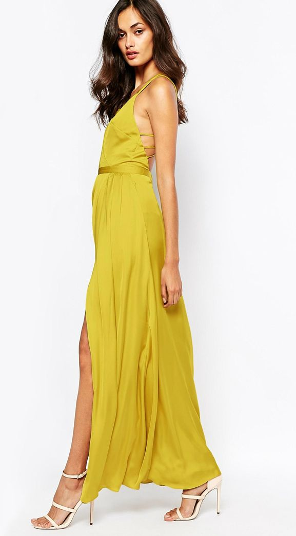 118 best images about outfits matri on pinterest for Yellow wedding guest dress