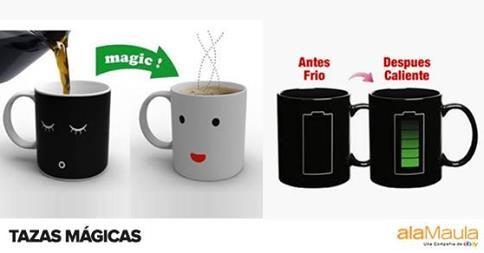 Especial #DiaDelAmigo Tazas Mágicas, son termo sensibles, cambian de color con la temperatura del agua. www.alamau.la/TazaMagica