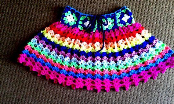 Teens Crochet  Skirt   66cm waist by crochetkiwi on Etsy