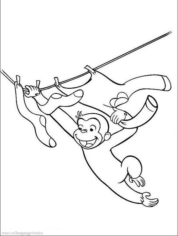 george the monkey was playing coloring pages curious george coloring pages kidsdrawing free