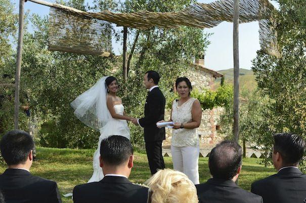symbolic ceremony at Podere Finerri