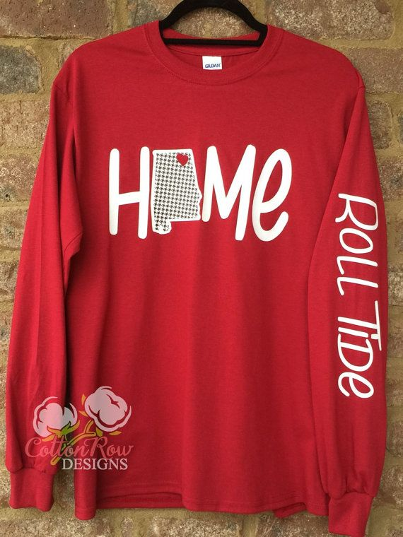 Auburn Alabama Home Long Sleeve Shirt by CottonRowDesigns on Etsy
