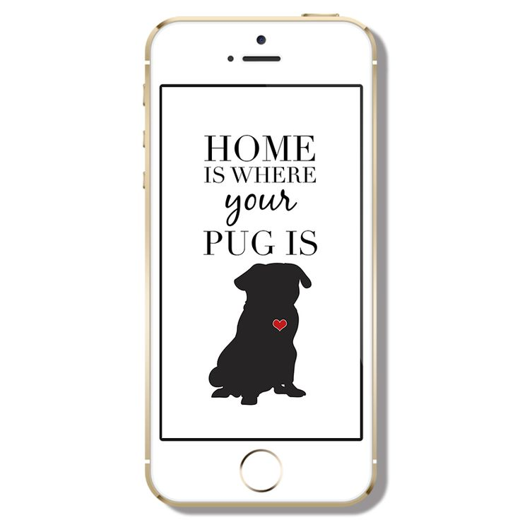 Freebie Friday   Home is... Phone Wallpaper http://www.thepugdiary.com/freebie-friday-home-is-phone-wallpaper/