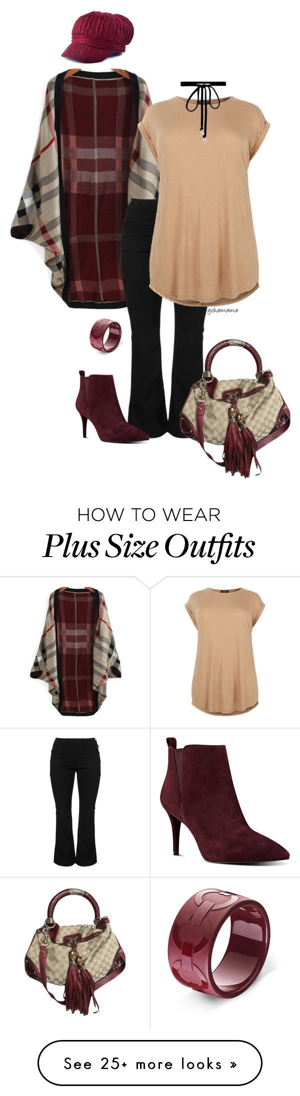 """""""Look deeper- plus size"""" by gchamama on Polyvore featuring Zizzi, Nine West, Gucci, Joomi Lim and plus size clothing"""